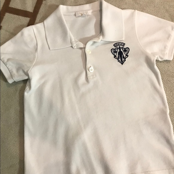ed8bcce99e8d Gucci Other - Gucci Boy s White Short-Sleeve Polo Shirt (Size 4)